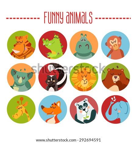 cute cartoon animals avatars