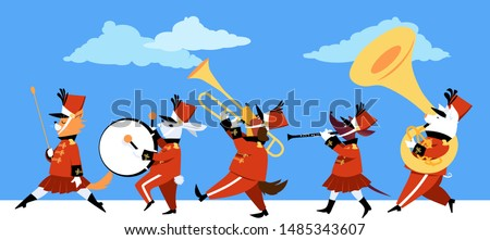 cute cartoon animals playing