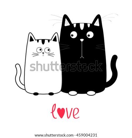 cute cartoon black cat boy and