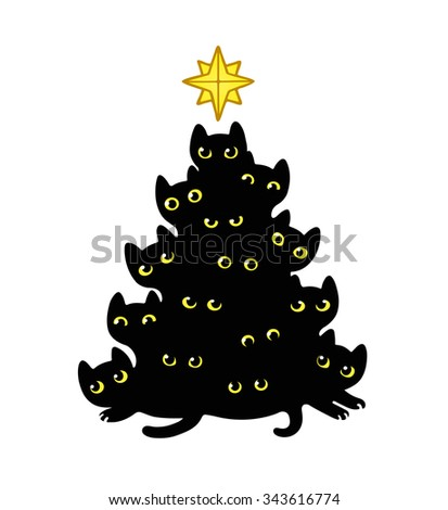 cute cartoon black cats