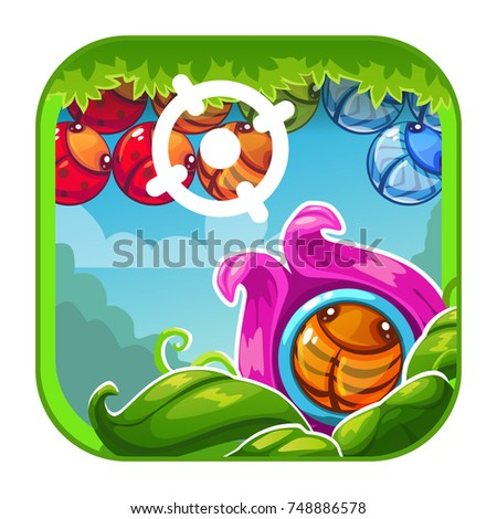 cute cartoon bright app icon