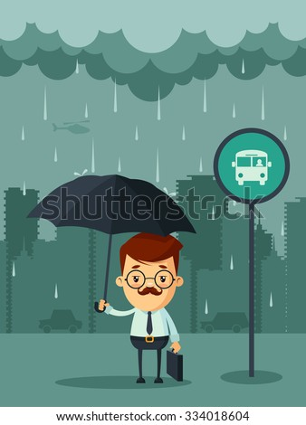 cute cartoon businessman with