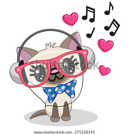 cute cartoon cat with