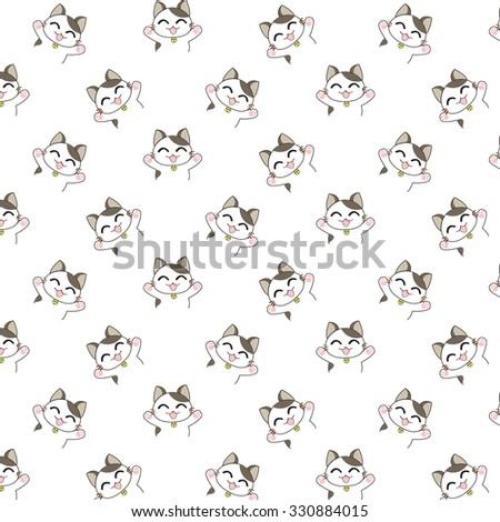 Cute Cartoon Cats Pattern.