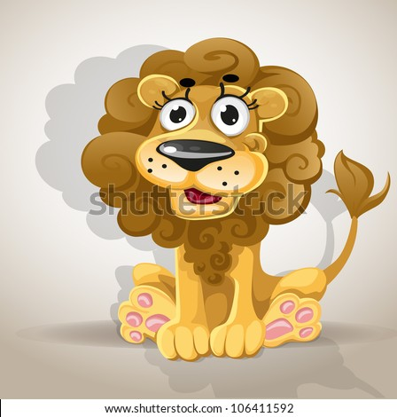 Lion Cartoon Character on Cute Cartoon Character Lion Stock Vector 106411592   Shutterstock