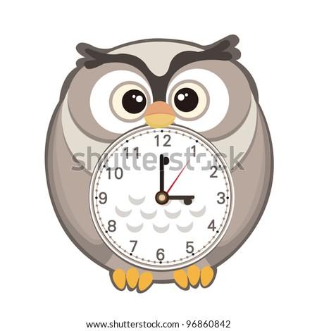 Cute Cartoon Clock Stock Vector Illustration 96860842