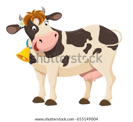 Cute cartoon cow illustration