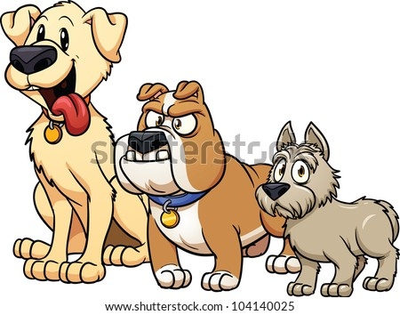 Image of: Pictures Cute Cartoon Dog Breeds Vector Illustration With Simple Gradients Each In Separate Layer Vecteezy Cartoon Dogs Graphics Download Free Vector Art Stock Graphics