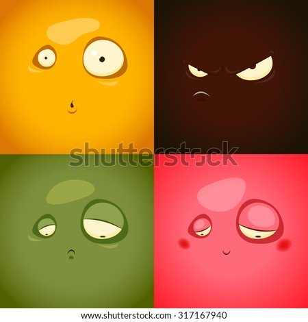 cute cartoon emotions anger