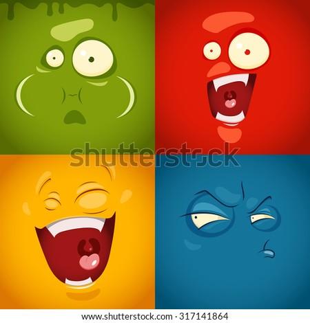 cute cartoon emotions fear