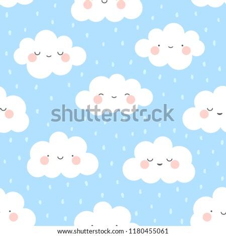 cute cartoon face cloud
