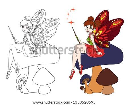 cute cartoon fairy with