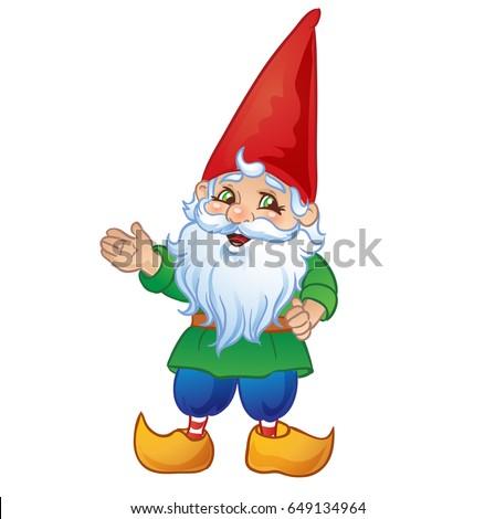 cute cartoon garden gnome