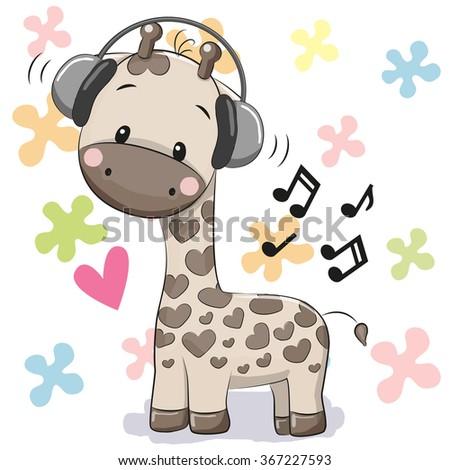 cute cartoon giraffe with