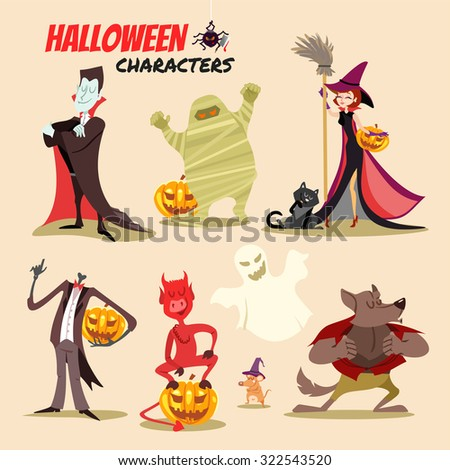 cute cartoon halloween