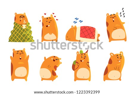 cute cartoon hamster characters