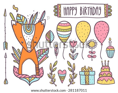 cute cartoon hand drawn happy