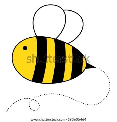 cute cartoon honey bee