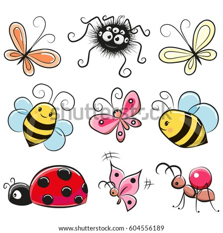 stock-vector-cute-cartoon-insects-isolated-on-a-white-background