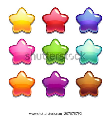 cute cartoon jelly stars in