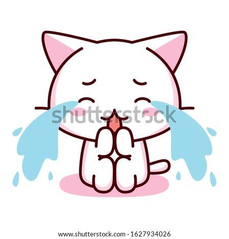 cute cartoon kawaii crying