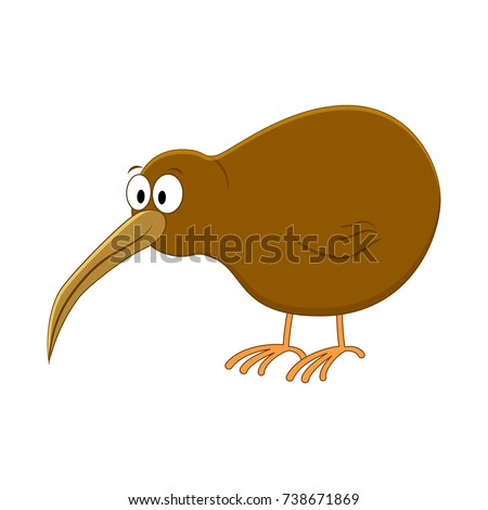 cute cartoon kiwi bird vector