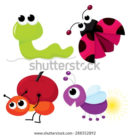Cute i Like You Cartoons Cute Cartoon Little Bugs Like
