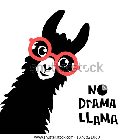 cute cartoon llama design with