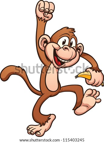 stock-vector-cute-cartoon-monkey-vector-clip-art-illustration-with-simple-gradients-all-in-a-single-layer