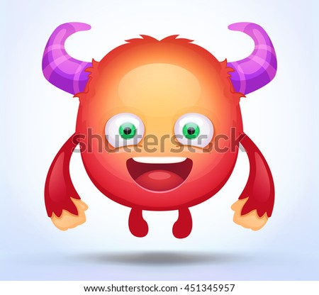 cute cartoon monster