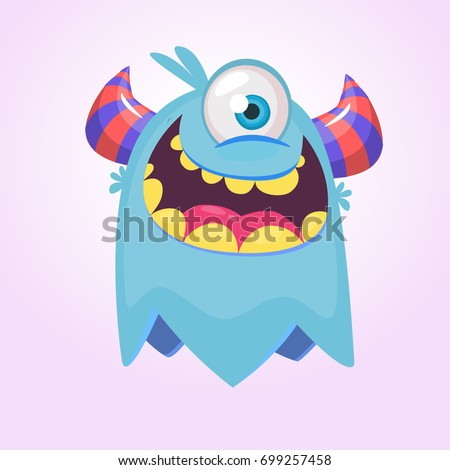 cute cartoon monster  with