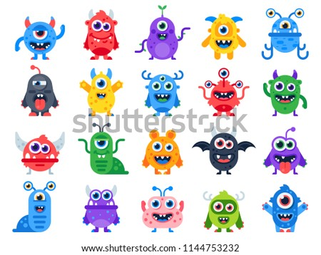 cute cartoon monsters comic