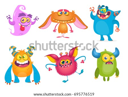 cute cartoon monsters. vector...