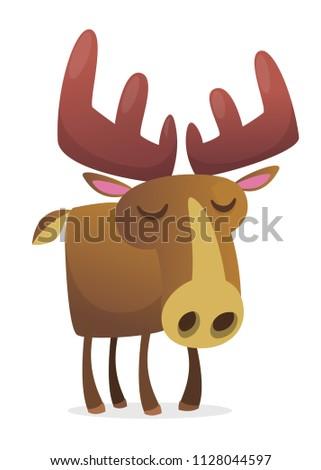 cute cartoon moose character