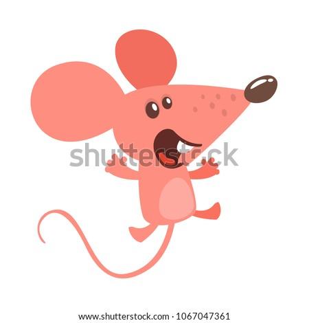 cute cartoon mouse dancing