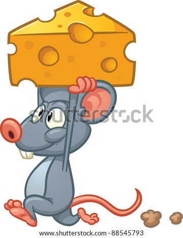 cute cartoon mouse holding a