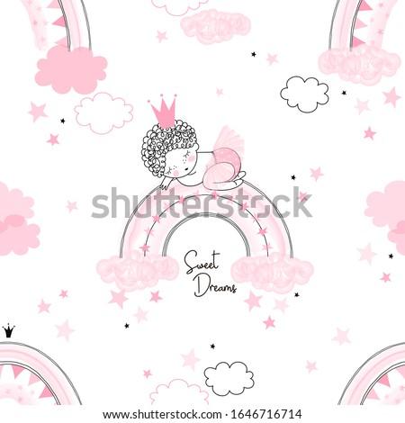 cute cartoon new born princess