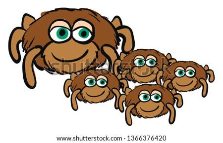 cute cartoon of a spider mom