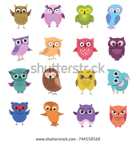 cute cartoon owl characters