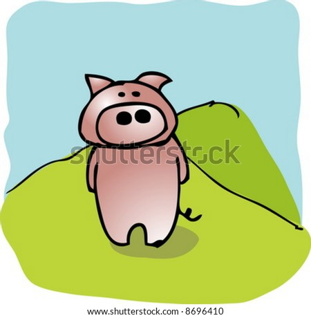 Animated pigs standing - photo#22