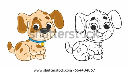 cute cartoon puppy funny dog