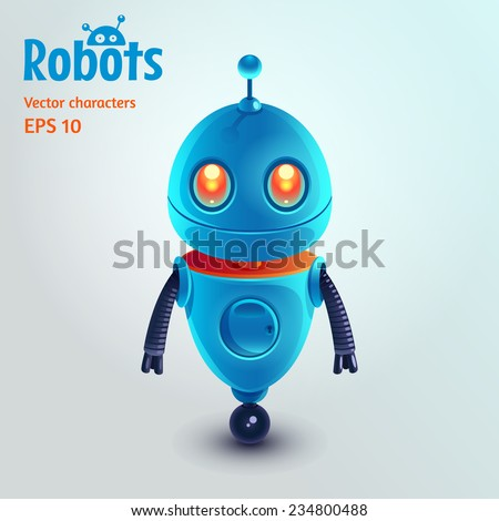 cute cartoon robot character