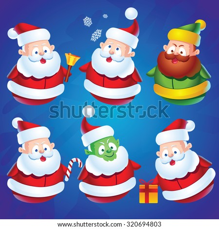 cute cartoon santa claus