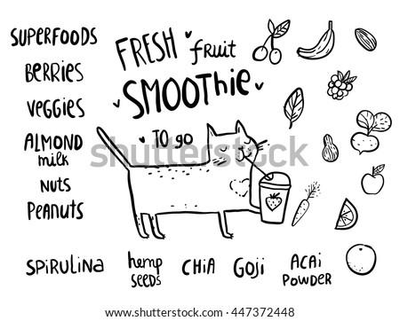 cute cartoon sketchy cat