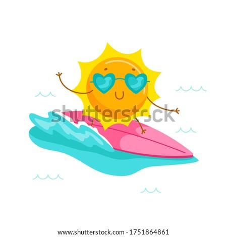 cute cartoon sun character