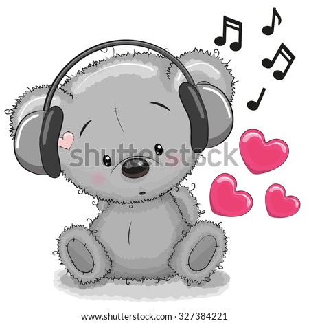 cute cartoon teddy bear with