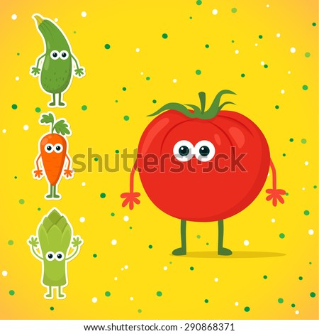 cute cartoon tomato character