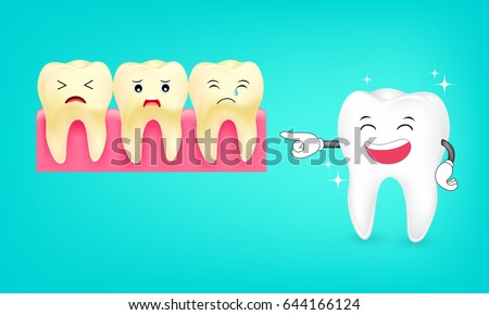 cute cartoon tooth character