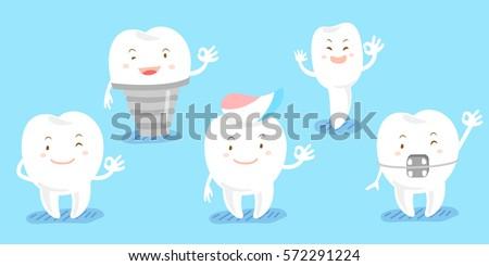 cute cartoon tooth show ok to you