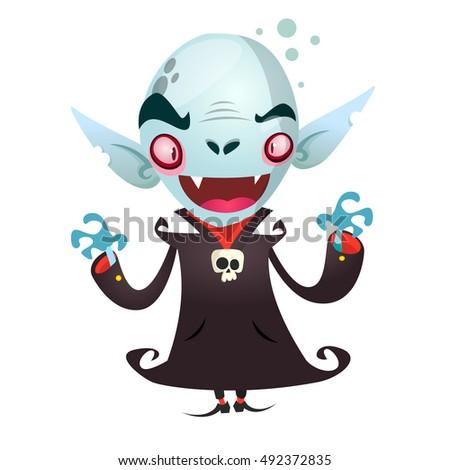cute cartoon vampire smiling